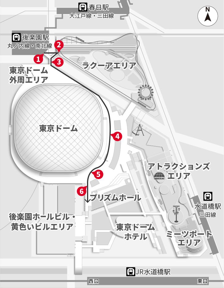 水道橋 駅 から ここ
